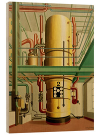 Wood print  The yellow kettle - Carl Grossberg