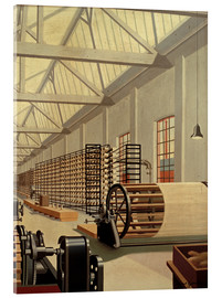 Acrylic print  Preparation hall (weaving) - Carl Grossberg