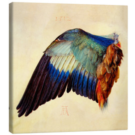 Canvas print  Wing of a blue roller - Albrecht Dürer