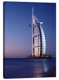 Canvas  The Burj Al-Arab at dusk - Ian Cuming