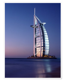 Premium poster  The Burj Al-Arab at dusk - Ian Cuming