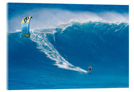 Acrylic print  On the Kiteboard in Hawaii - MakenaStockMedia