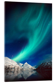 Acrylic print  Northern Lights on Portage Lake - Daryl Pederson