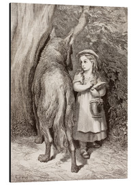 Aluminium print  Scene From Little Red Riding Hood By Charles Perrault - Gustave Doré