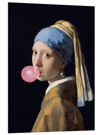 Foam board print  The Girl with a Pearl Earring (gum)