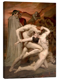 Canvas  Dante and Virgile - William Adolphe Bouguereau