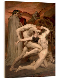 Wood print  Dante and Virgile - William Adolphe Bouguereau