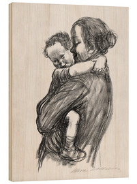 Wood print  Mother and child - Käthe Kollwitz