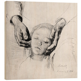 Wood print  Crushed - Käthe Kollwitz