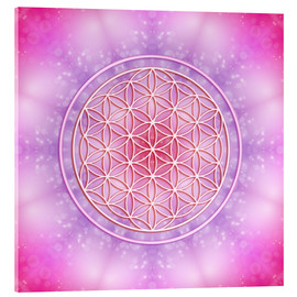 Acrylic print  Flower of life - unconditional love - Dolphins DreamDesign