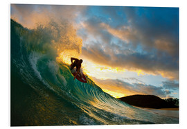 Foam board print  Skimboarder at sunset - MakenaStockMedia
