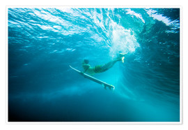 Premium poster  Surfer under water - MakenaStockMedia