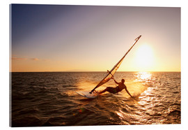 Acrylic print  Windsurfer in Hawaii - MakenaStockMedia