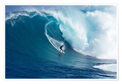 Premium poster Giant Wave at Maui