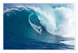 Premium poster  Giant wave off Maui - Ron Dahlquist