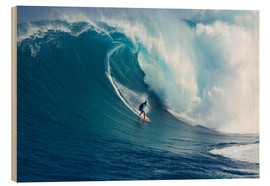 Wood print  Giant wave off Maui - Ron Dahlquist