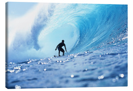 Canvas print  Surfer in the pipeline Barrel - Vince Cavataio