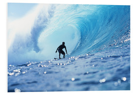 Foam board print  Surfer in the pipeline Barrel - Vince Cavataio