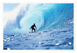 Premium poster Surfer in the pipeline Barrel