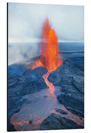 Aluminium print  Lava fountain - Reggie David