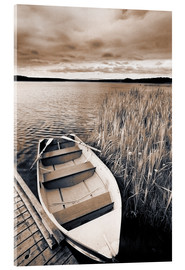 Acrylic print  Boat on Lake Burntstick - Darwin Wiggett