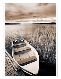 Premium poster  Boat on Lake Burntstick - Darwin Wiggett