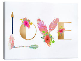Canvas print  Love Collage - GreenNest