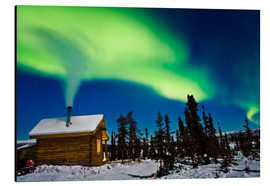 Aluminium print  Northern Lights over a hut - Kevin Smith