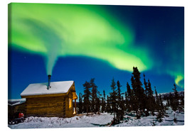 Canvas  Northern Lights over a hut - Kevin Smith