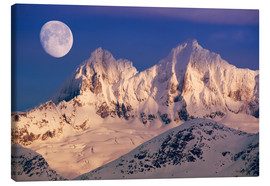 Canvas print  Moon over the Tongass National Forest - John Hyde