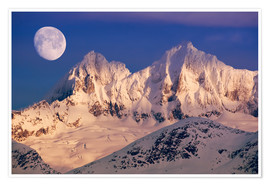 Premium poster Moon over the Tongass National Forest