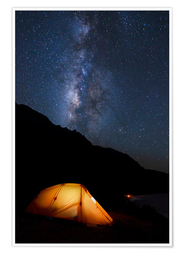 Premium poster Tent and starry sky