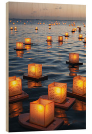 Wood print  Lantern sea - Brandon Tabiolo