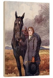 Wood print  She Chose Me For Her Horse - Ken Welsh
