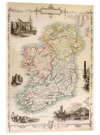Acrylic print  Map Of Ireland by Thomas Wright (18th century) - Ken Welsh