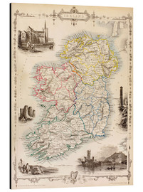 Aluminium print  Map Of Ireland by Thomas Wright (18th century) - Ken Welsh
