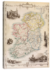 Canvas print  Map Of Ireland by Thomas Wright - Ken Welsh