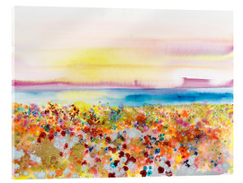 Acrylic print  Field Of Joy, Abstract Landscape - Tara Thelen
