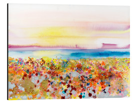 Aluminium print  Field Of Joy, Abstract Landscape - Tara Thelen