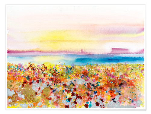 Premium poster Field Of Joy, Abstract Landscape