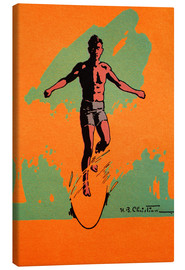 Canvas print  The Surfer - Hawaiian Legacy Archive