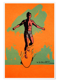 Premium poster  The Surfer - Hawaiian Legacy Archive