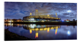 Acrylic print  Bremen stadium in the moonlight - Tanja Arnold Photography
