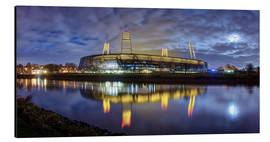 Alu-Dibond  Bremen stadium in the moonlight - Tanja Arnold Photography