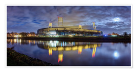 Poster  Bremen stadium in the moonlight - Tanja Arnold Photography