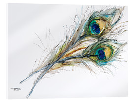 Acrylic print  Two peacock feathers - Tara Thelen