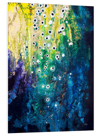 Foam board print  Flowers and waterfall after Klimt - Tara Thelen