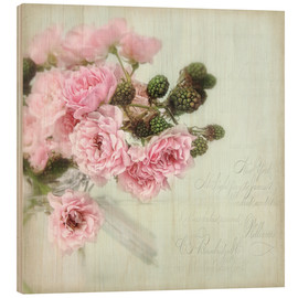 Wood print  roses&berries N°2 - Lizzy Pe
