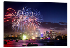 Acrylic print  New Year's Eve in Sydney - Matteo Colombo