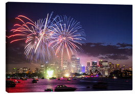 Canvas  New Year's Eve in Sydney - Matteo Colombo